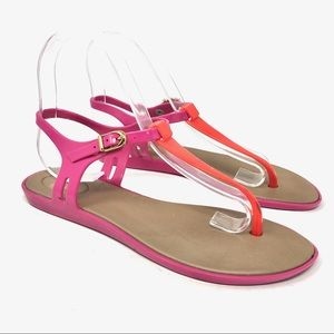 Mel by Melissa Pink Jelly Toe Post Sandals US 7